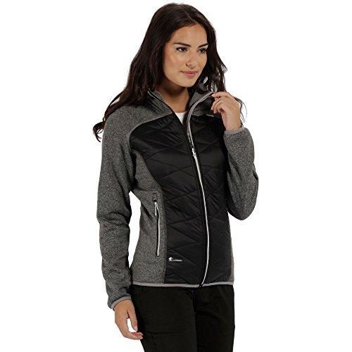 Regatta Damen Hybrid Softshell Jacke Andreson Iii, Schwarz (Black), 40 (Herstellergröße: 14) (Jacke Damen Ski-softshell)