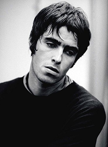 A4 Liam Gallagher Poster, Black and White