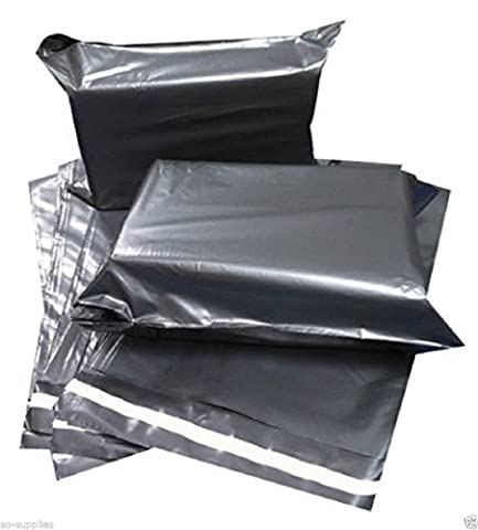 100 X Grey Mailing Bags 6 X 9 165Mm X 230Mm Degradable Plastic Post Postage