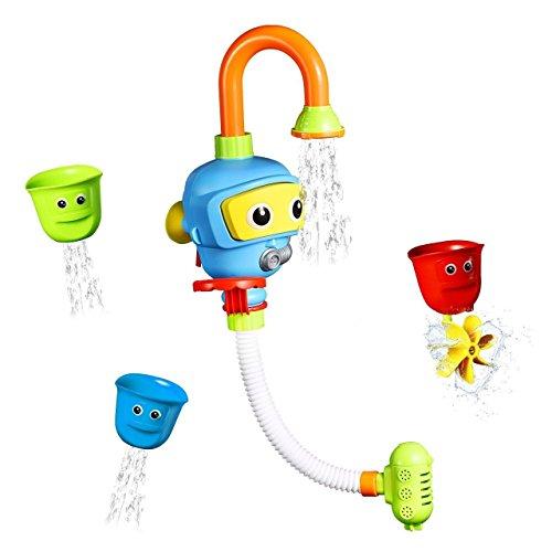 INCHANT Baby Bad-Spielzeug Wasser-Dusche Sprayer Wasserspielzeug Badewanne Brunnen Spielzeug für Kinder Kleinkind Badspielzeug mit Sucker Early Education Interaktive über 3 Jahre älter Toddlers (Blau) (Dusche Baby-spielzeug)