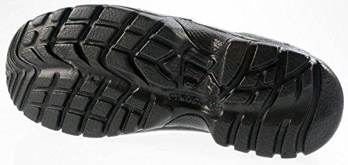 AIMONT 72503Paire Embout en acier noir en cuir pour homme SB Hiker Baskets de sécurité travail Bottes en dentelle Noir