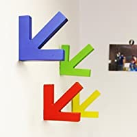 Walplus 28.4 x 18.2 x 3.8 cm Colorful Coat Hooks Wall Art Decals Home Decoration DIY Living Bedroom Office Décor