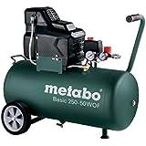 Metabo 601535000 Kompressor BASIC 250-50 W OF | + Universal-Schnellkupplung. Zuggriff Gummiert (Ansaugleistung: 220 l/min | Füllleistung120 l/min | 8 bar / 1.5 kW | Kesselgröße 50 l | 29 KG)