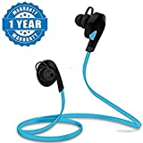 Drumstone Bluetooth 4.1 Stereo Sports Sweatproof Headphones for Android/iOS Devices (Blue)