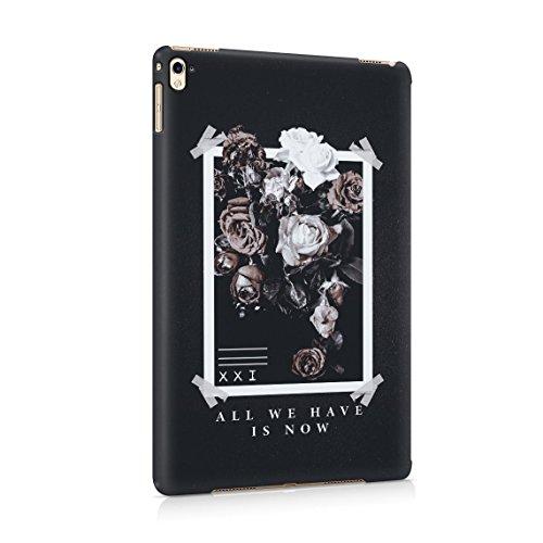 All We Have Have Is Now Pale Weiß & Rosa Wild Roses Tumblr Dünne Rückschale aus Hartplastik für iPad Pro 9.7 Tablet Hülle Schutzhülle Slim Fit Case cover (Rosa Paisley-snap)