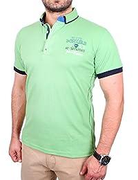 Reslad Polo-Shirt Herren Slim Fit Button-Down-Kragen Polo-Hemd RS-5202