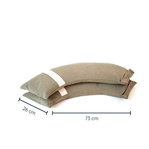 Baser Outdoor Befüllbaren Sandsäcke für den Garten: Gewicht/Beschwerung für Pavillion, Trampolin, Türstopper, Ampelschirme, Wascheständer, alternativ zum Platten,(2 x 15 KG)