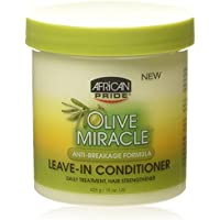African Pride Olive Miracle Leave-In Conditioner 15oz Jar