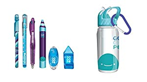 GOGOPO GOGOPO-GP1010 GP1010 Collectibles - Botella Deportiva de papelería, Color Azul, Keycraft