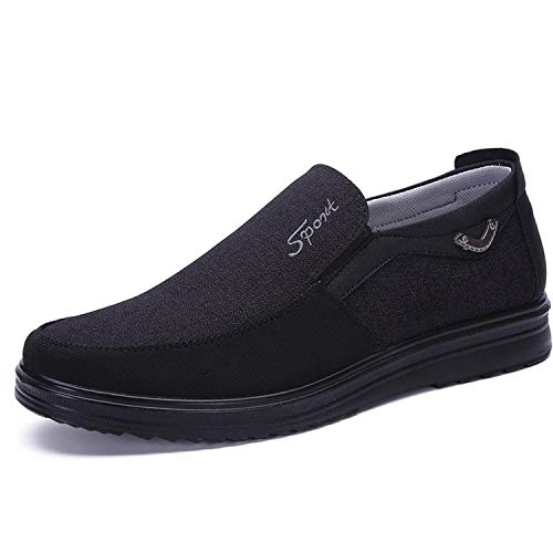 Canvas Loafers Shoes Slip on Men Casual Shoes Summer New 2019 Breathable Fashion Soft Flat Driving Shoes 1 40