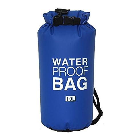 CHRISLZ 1 Pcs Waterproof Dry bag-Roll Top Waterproof Floating Duffle Dry Gear Bagfor Outdoor Activities (blue, 10L)