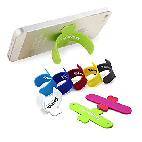 GKP PRODUCTS Silicone Touch U Stand Holder Finger Ring Mount for Cellphones mp4 etc Model 143035