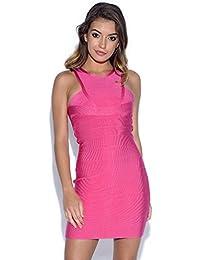 c46e01b99 Amazon.es  Vestido Rosa Fucsia  Ropa