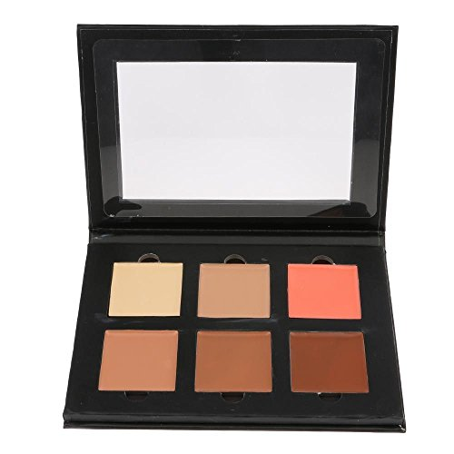 HuntGold 6 couleurs crème pour le visage contour kit correcteur palette bronzeur surligneur maquillage