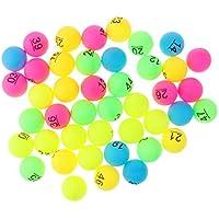 Baoblaze 50 Unidades de Pelotas de Tenis de Mesa Jueguete para Niños Duradero - Número 1-50 Multicolor
