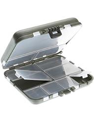CORMORAN 10035 - Maletín para utensilios de pesca (12 x 10,5 x 3,3 cm, compartimentos transparentes), color verde