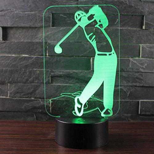 Sport Serie Golf Thema 3D Lampe LED Nachtlicht 7 Farbwechsel Touch Stimmung Lampe, Tischlampe Atmosphäre Dekoration, Taufgeschenk für Boy @ Crack Basis