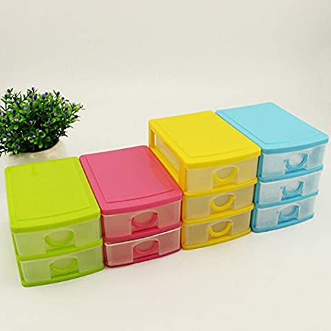 Tiroirs en plastique Jewelry Holder Storage Bins Box Organizer Case Cabinet de bureau