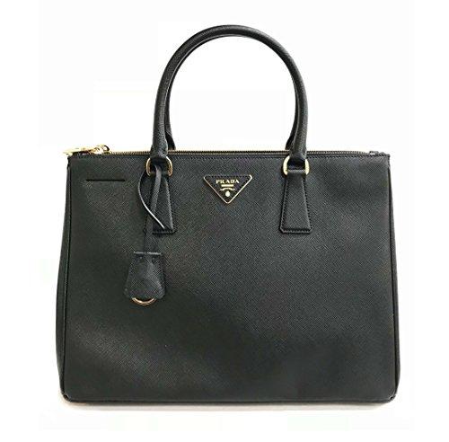 Prada Handtasche Damen Tasche Schultertasche Messenger Bag galleria lux Schwarz (Prada Tasche Damen)