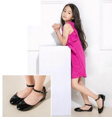 Ohmais Enfants Filles Chaussure cérémonie Ballerines à bride Fête Demoiselle d'honneur Mariage Escarpin plat Babies Noir