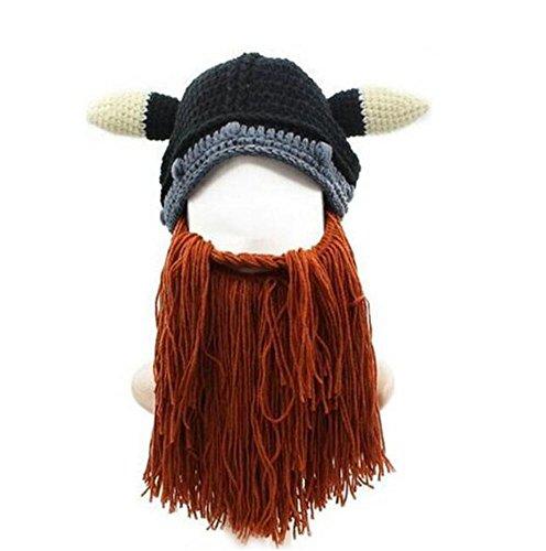 Da.Wa 1 Stück Lustige Mütze mit Bart/Bartmütze/Stricken (Hüte Und Bärte)