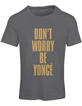 Camiseta mujer ¡No te preocupes! Cómo ser feliz, grandes citas, famosos dichos positivos