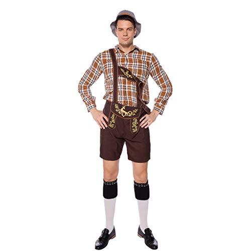 Einfache Kostüm Stitch - Setsail Herren Vintage Fashion Beer Festival bayerischen Langarm Kellnerin Cosplay Kostüm Anzug Freizeitsets Einfach Joker Kleidung Geeignet für zu Hause/Sport/Party/Freizeit