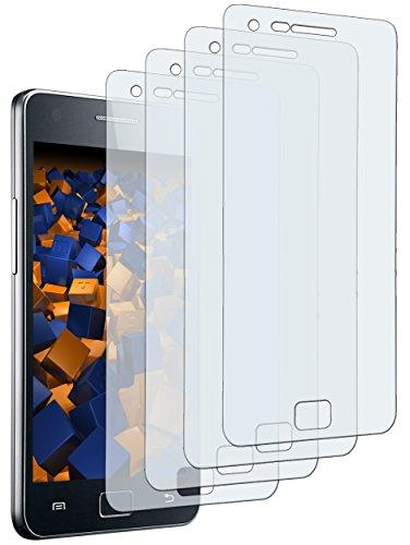 mumbi Schutzfolie kompatibel mit Samsung Galaxy S2 Folie klar, Displayschutzfolie (4x)