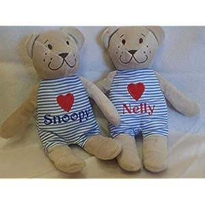 Teddybär mit Wunschname Bärchen Stofftier Geschenk