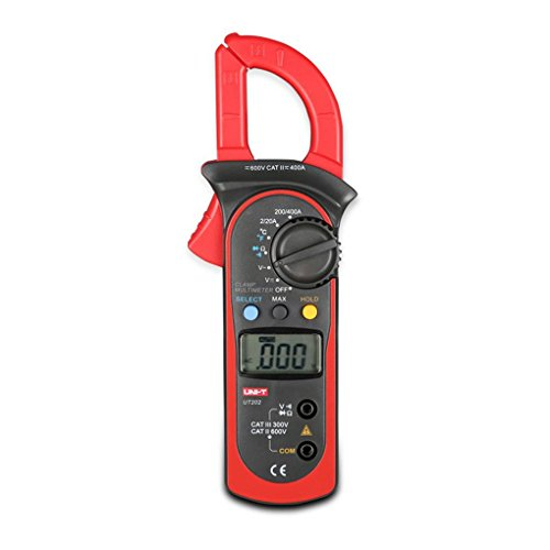Bodbii UNI-T UT202 AC 400A-600A Digitale Clamp Multimeter AC/DC Spannungsprüfer AC Strom Widerstand/Ohm-Meter Prüfvorrichtung 400a Digital Clamp