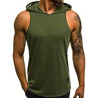OZONEE Mix Herren Tanktop Tank Top Tankshirt T-Shirt Kapuze Unterhemden  Ärmellos Muskelshirt Fitness 05T a9887289d5