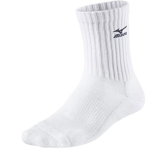 Mizuno Volleyball Socks Medium, White/Navy, 35/37