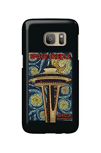Seattle, Washington - Space Needle Mosaic (Galaxy S7 Cell Phone Case, Slim Barely There)