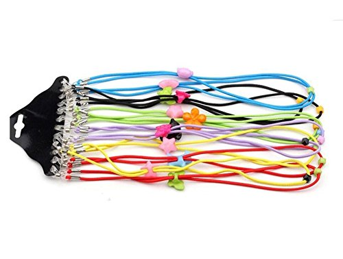 12 Colorful Elastic verstellbar Schlüsselanhängerform Ketten Eyewear Schlüsselanhängerform Cord Strap Rope für Kinder