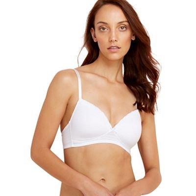 Debenhams Damen BH, 2 Stück, Schwarz und Weiß, bügellos Gr. 80D, schwarz (Brustkrebs Frauen T-shirt)