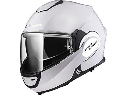 LS2 Motorradhelm VALIANT, Weiß, Größe M