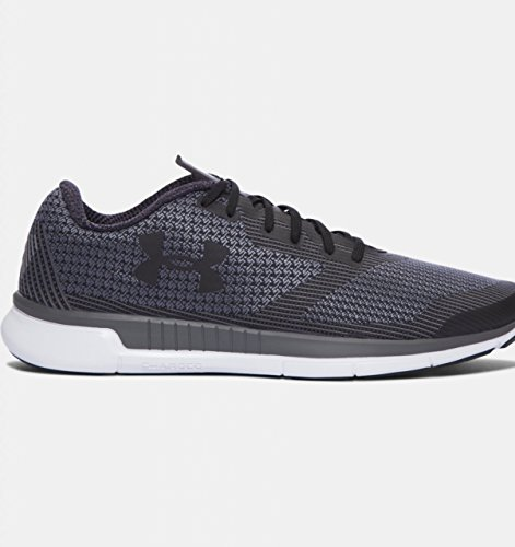 4. Under Armour Men's Black/White/Black Running Shoes