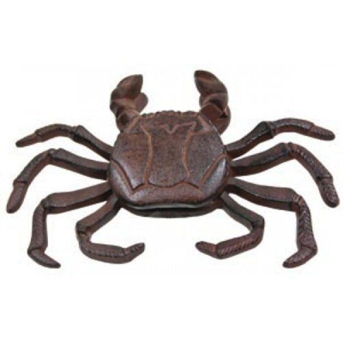 Coastal Crab Shaped Cast Iron Rust Finish Door Knocker by Moby Dick -