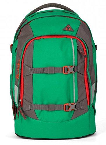 Satch Schulrucksack Pack Green Steel 212 grün rot