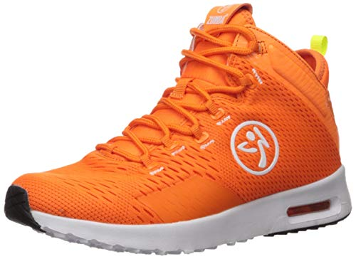 Zumba Air Classic Sportliche High Top Tanzschuhe Damen Fitness Workout Sneakers, Orange, 38.5 EU