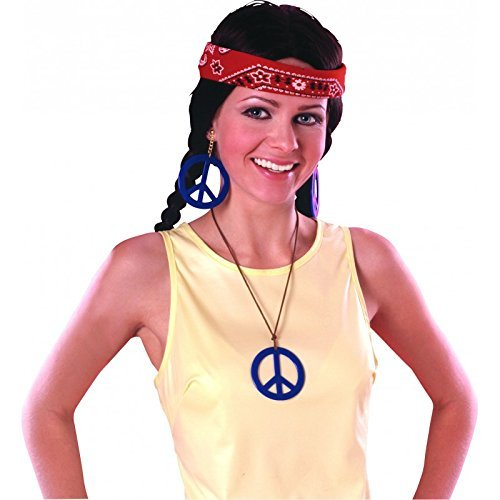 Rubie 's Offizielles 70's Peace Anhänger und Ohrring-Set Erwachsene (One Size)