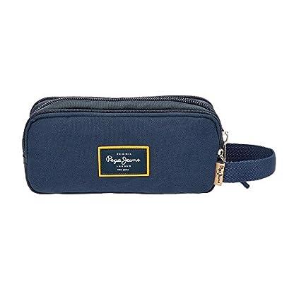 41x2FZ3kn%2BL. SS416  - Pepe Jeans Scarf Neceser de Viaje, 22 cm, 1.98 Litros, Azul