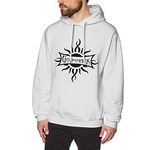 MulipooJicke Herren Godsmack Weich White 3XL Fleece-Pullover Mit Kapuze -