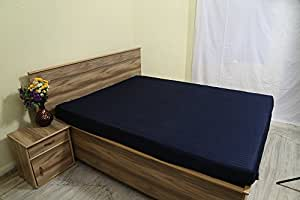 aashirainwear 1 fitted sheet only 100 cotton 400 thread count rv queen size navy blue stripe. Black Bedroom Furniture Sets. Home Design Ideas