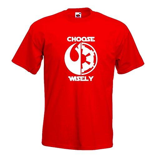 KIWISTAR - choose wisely T-Shirt in 15 verschiedenen Farben - Herren Funshirt bedruckt Design Sprüche Spruch Motive Oberteil Baumwolle Print Größe S M L XL XXL Rot