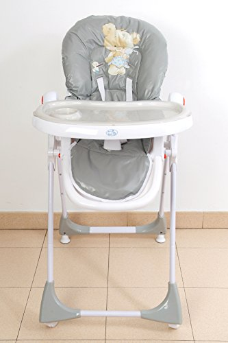 Trona para bebé regulable, doble bandeja, modelo estrella be.