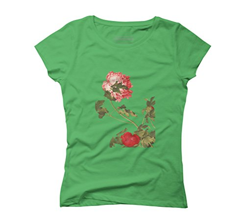 Blossom in the wind Women's Graphic T-Shirt - Design By Humans Green
