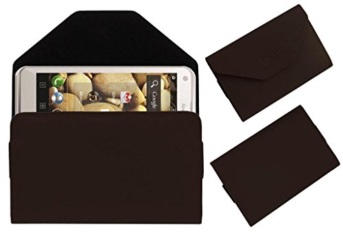 Acm Premium Pouch Case For Lenovo S880 Flip Flap Cover Holder Brown  available at amazon for Rs.179