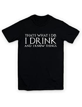Camiseta con texto «Thats What I Do I Drink And I Know Things»Tyrion Lannister