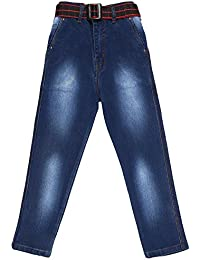 Magic Attitude Boy's Slim Fit Jeans Washed Dark Blue